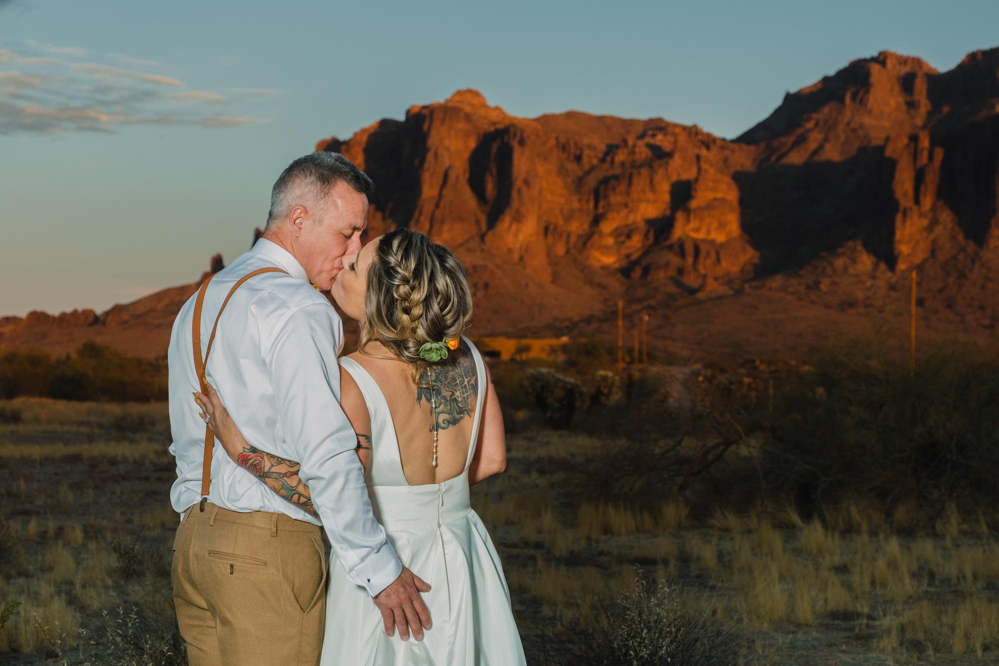 Brandy + Toby | Outdoor Arizona Wedding at The Paseo by Cyndi