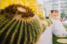 Phoenix wedding photograph of same sex brides on wedding day