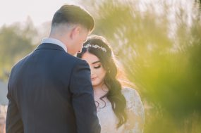 Phoenix wedding photograph of peaceful moment for bride and groom
