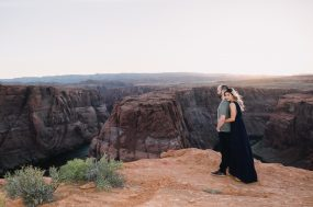 Phoenix engagement photograph of couple at Grand Canyon