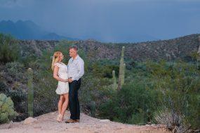 Phoenix wedding photograph of engaged couple hugging