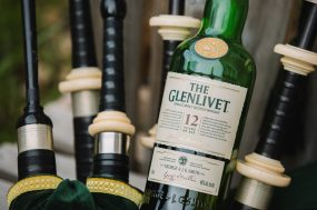 Phoenix wedding photograph of Scotch whiskey and bagpipes