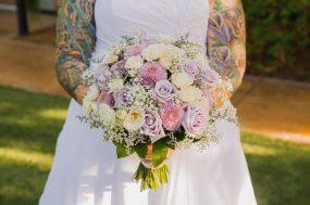 Phoenix wedding photograph of bride holding bouquet