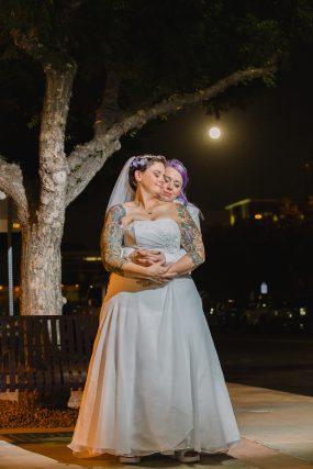 Phoenix wedding photograph of same sex couple hugging