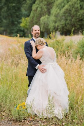 Phoenix wedding photograph of bride and groom laughing