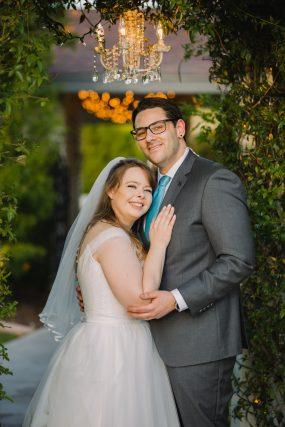 Phoenix wedding photograph of couple portrait in garden