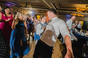 Phoenix wedding photograph of guests dancing during reception