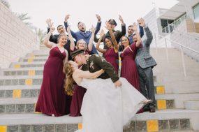 Phoenix wedding photograph of military wedding