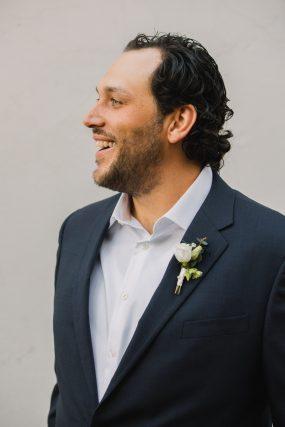 Phoenix wedding photograph of groom smiling