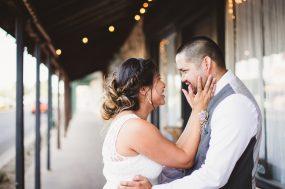 Phoenix wedding photograph of bride holding groom