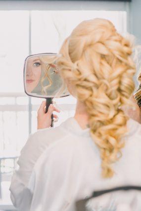 Phoenix wedding photography of bride getting ready