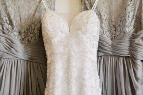 Phoenix wedding photography of bridal gown