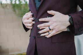 Phoenix wedding photograph of bride and groom's hands