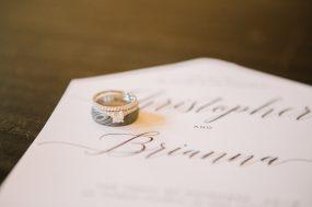 Phoenix wedding photograph of couple's wedding rings