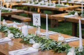 Phoenix wedding photograph of reception decorations