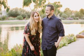 Phoenix engagement photograph of couple laughing