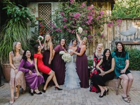 Phoenix Wedding Photography of bride and friends on wedding day