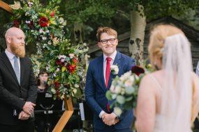 Phoenix wedding photography of groom during wedding ceremony