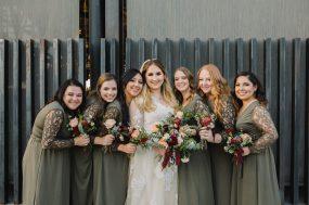 Phoenix wedding photograph of bridesmaids on wedding day
