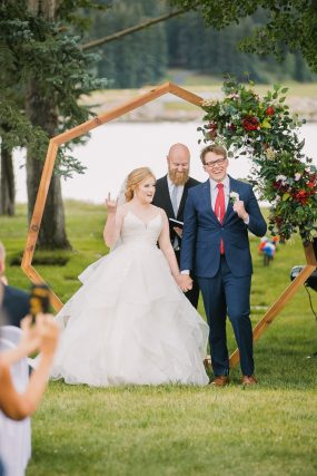 Phoenix wedding photography of bride and groom at ceremony