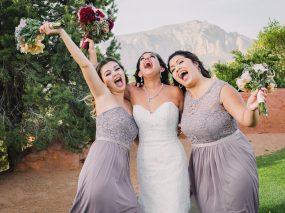 Phoenix Wedding Photography of bridesmaids on wedding day