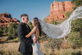 Phoenix Wedding Photography of couple smiling on wedding day