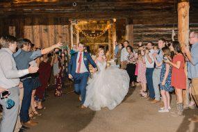 Phoenix wedding photography of couple's grand exit