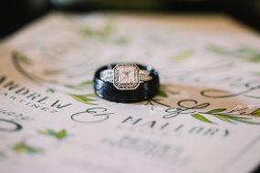 Phoenix wedding photography of bride and groom's rings