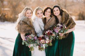 Phoenix wedding photography of bride and bridesmaids