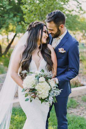 Phoenix Wedding Photography of couple hugging on wedding day