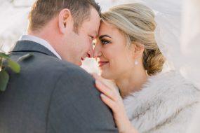 Phoenix wedding photography of wedding couple smiling