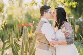 Phoenix Wedding Photography of couple kissing on wedding day
