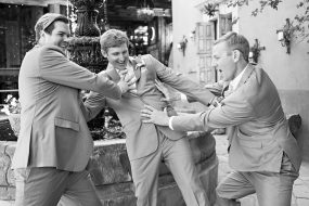 Phoenix Wedding Photography of groomsmen on wedding day