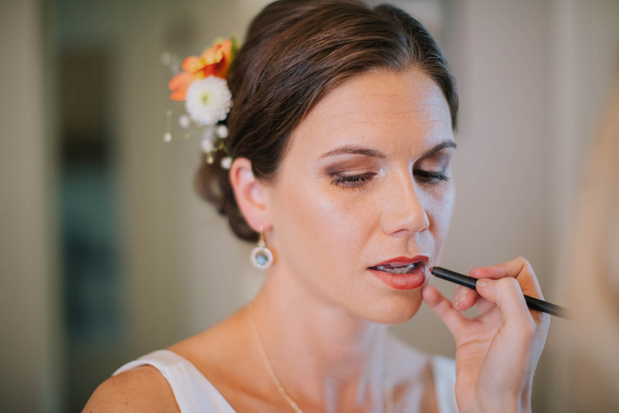 Wedding Day Makeup being applied