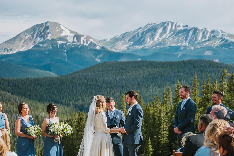 Wedding ceremony in Colorado mountains