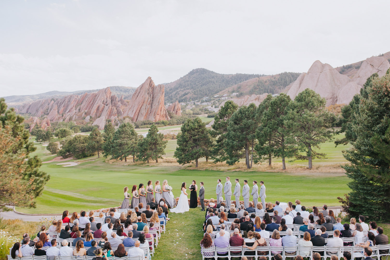 Wedding Ceremony at Arrowhead Golf Club in Colorado
