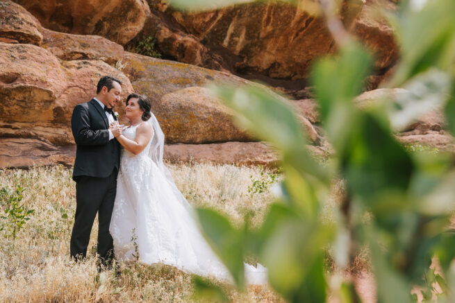 Adrienne + Chris Red Rocks Amphitheatre Colorado Micro Wedding