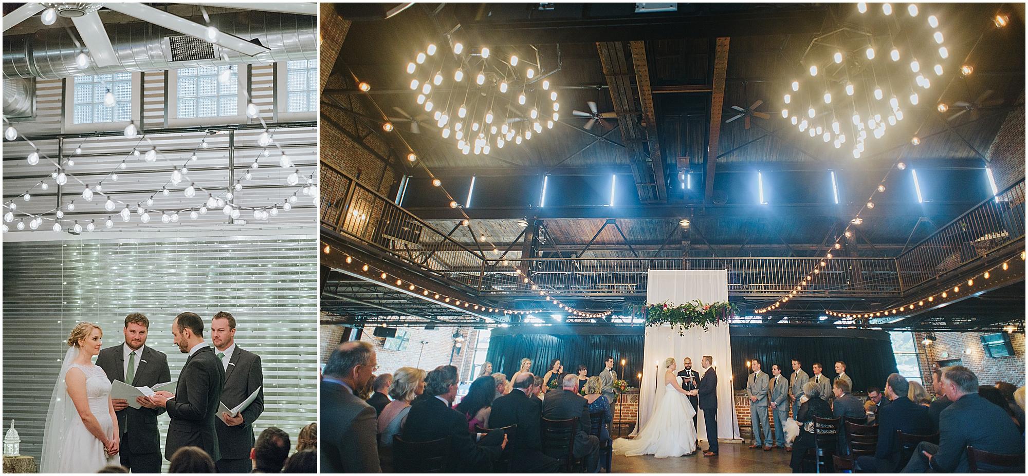 ceremonies with dramatic lighting